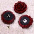 Природный Норки Помпон Бал Цветов Для Обуви Шляпы Сумки Аксессуары подлинная натуральный Мех Помпон Мех Цветок Пом Англичане для головных Уборов и Caps