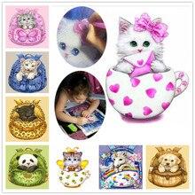 Diamond Embroidery hobby Animal Cat 5D DIY Painting cross stitch Experience toys Mosaic Bedroom Decor