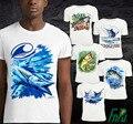 2016 Atacado Personalizado 3D Peixes Projeto T shirt Tops OEM 20 pcs por Design Super Qualidade 3D Impresso camiseta Verão Estilo Peixe Top