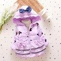 Новая мода девушки 4 цвета верхняя одежда дети хлопка С Капюшоном пальто Зимняя Куртка теплое Пальто детская зимняя одежда