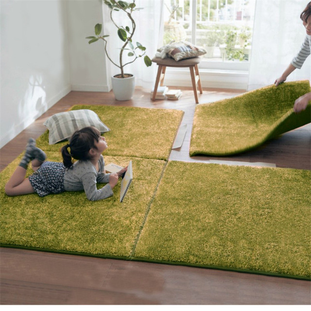 New Long Hair Memory Foam Area Rugs Children Kids Play Mat Soft Patchwork  Carpet Magic Jigsaw