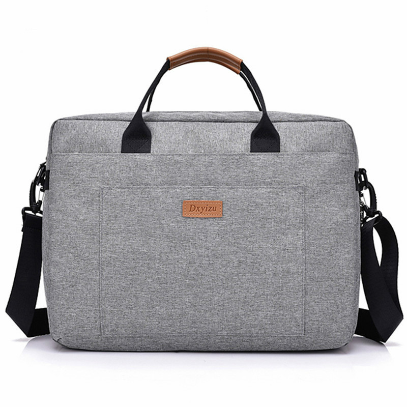 2018 New Women Men Canvas Briefcase 16 Inch Laptop Shoulder Bag For Female Male Handbag Business Computer Bag Travel Large Tote