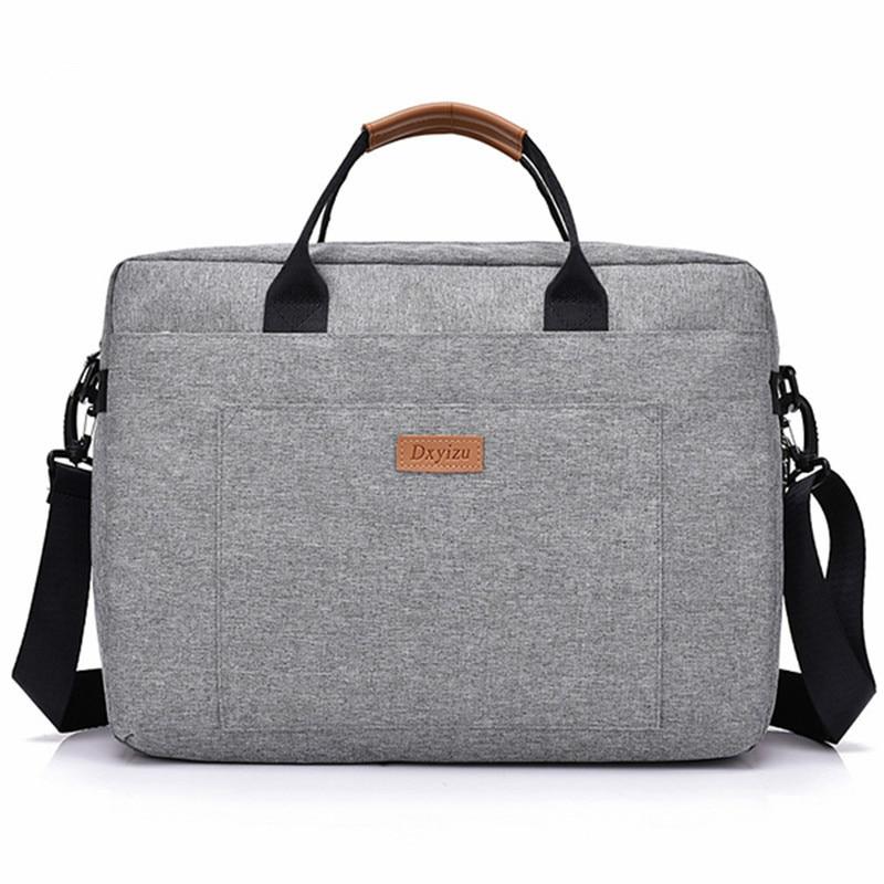 2018 New Women Men Canvas Briefcase 16 Inch Laptop Shoulder Bag For Female Male Handbag Business Computer Bag Travel Large Tote