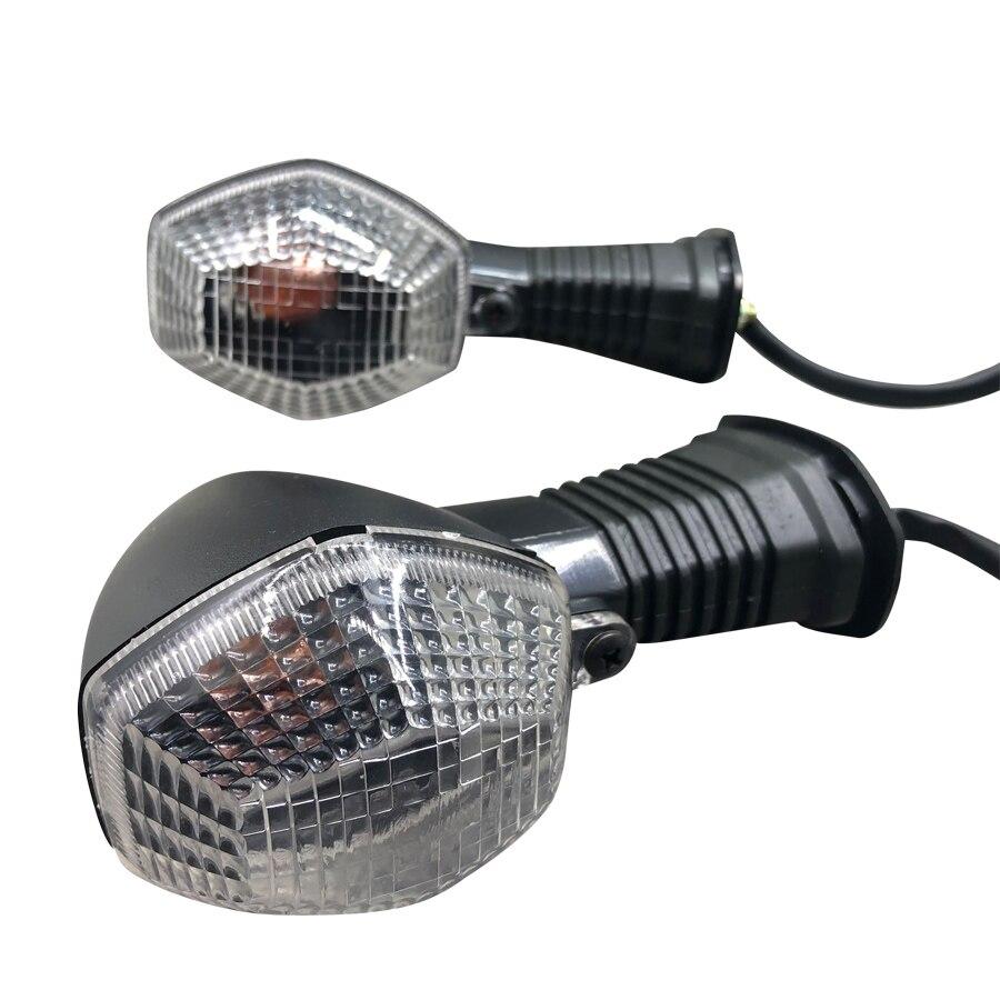 1 par de lente branca indicador da motocicleta turno signal lâmpada luz para suzuki gsf 600 650 1200 n/s bandit sfv 650 gladius GSX R 750|  - title=