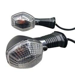 1 para biały obiektyw kierunkowskaz do motocykla lampka kierunkowskazu światło dla Suzuki GSF 600 650 1200 N/S Bandit SFV 650 Gladius GSX R 750 na