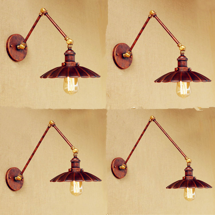 Rustic Wall Sconce Vintage Wall Lamps Arandela Edison Loft Industrial Wall Lights Fixtures Long Arm Wall Light Lampara Pared america rustic vintage pipe wall lamp in loft industrial style stair light edison wall sconce arandela lampara aplik