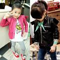 2016 Baby Girl And Boy PU Leather Jacket Spring Sutumn Child Toddler Girl Angel Wings Leather Jackets Coat Outwear Kids Parkas