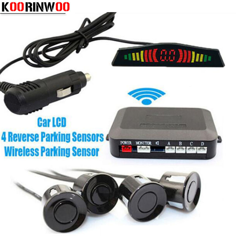 Have An Inquiring Mind Koorinwoo Car Wireless Led Display Car Sensor Bibi Alarm Sound Vehicle Parking Radars 4 Sensors Blind Parking System Assistance Car Electronics Parking Sensors