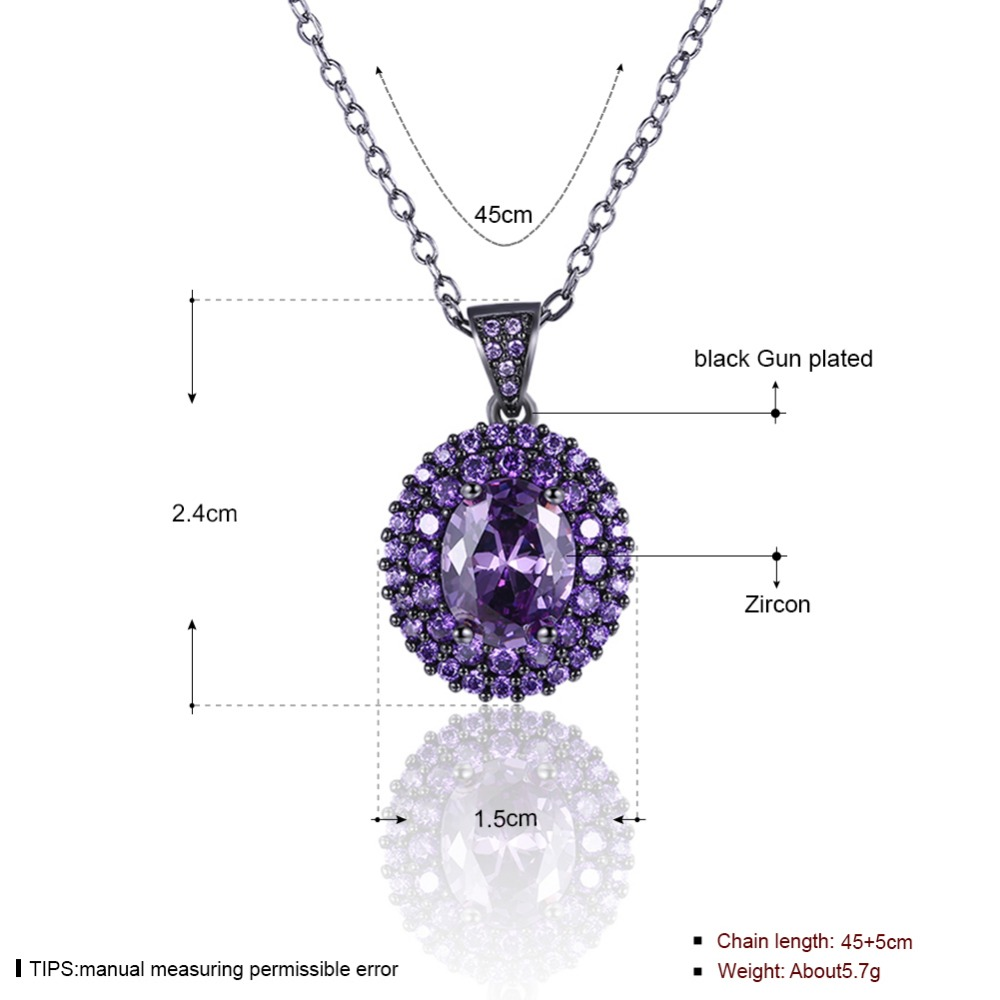 necklace purple stone flat women jewellery wear accessories