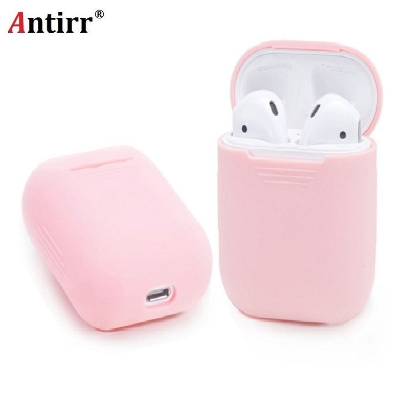 Soft Silicone Case For Apple Airpods Shockproof Cover For Apple AirPods Earphone Cases Ultra Thin Air Pods Protector Case shockproof for airpods case earphone case tpu silicone bluetooth wireless headphone protector cover for apple airpods case cover