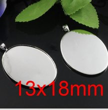 Free shipping!!! Lead 400pcs/lot Inside size 13x18mm silver plated oval Cameo Base Sett DIY pendant findings