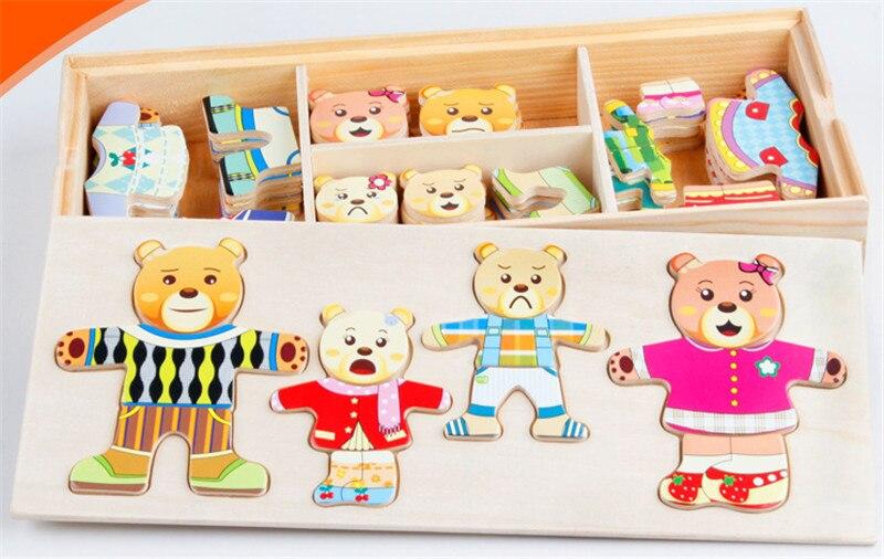 Новые деревянные игрушки классический мультфильм серии пазл детские развивающие игрушки подарок для малышей ЦИФРОВОЙ головоломки Бесплат...
