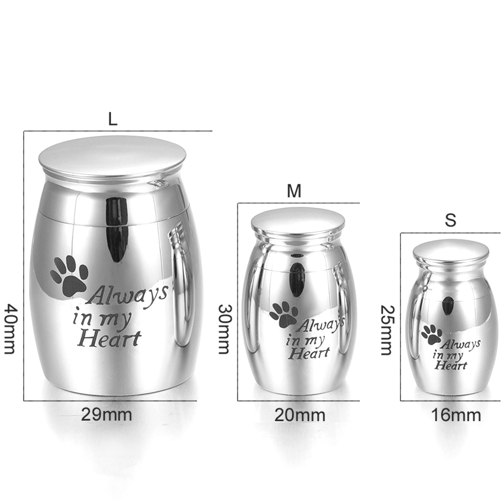 Beautiful Stainless Steel Cremation Urn, Adult Human Funeral Urns,Shiny Silver Ashes Holder Jewelry keepsakes