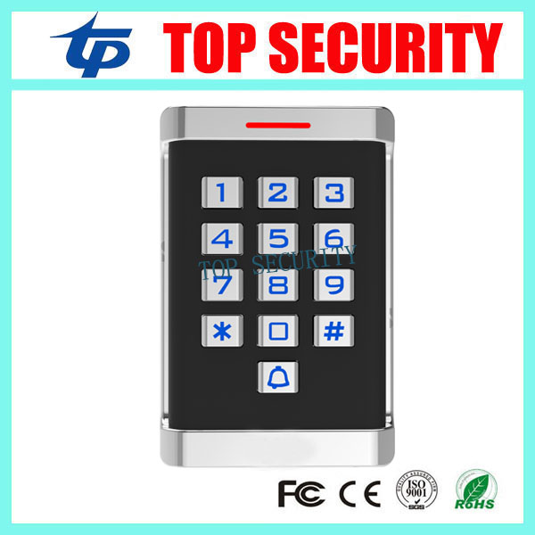 New arrived RFID card/MF card access control ip65 waterproof metal proximity card access control with keypad weigand in and out whole sale elegant mf1 card access control with touch screen keypad 3000pcs cards capacity wiegand in and out support