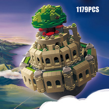 Hot Japan Anime castle in the sky animation scene MOC building block model bricks toys music box collection for children gifts