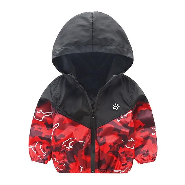 98578df8c2a3fb Jongen Jas 2017 Kinderen Camouflage Jas Lente Herfst Sport Hooded Outfits Winddicht  Baby Kids School Buiten