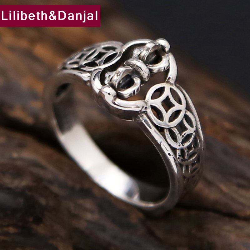 Будда Инструменты 925 Серебряное кольцо Для мужчин Jewelry Кольцо Для женщин подарок повезло безопасный Ювелирные украшения оптовая продажа r15