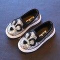 Varejo nova primavera coreano menina único shoes menino gato dos desenhos animados ocasional das crianças do bebê shoes estudante cor paillette planas shoes yxx