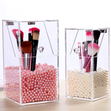 New Clear Makeup Pearls Box Cosmetic Storage Box Makeup Brus