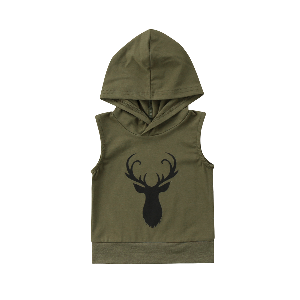 Kids Baby Simple Boy Deer Hoodies Spring Hooded Cotton Solid color Vest Sweatshirt Toddler Clothes Tops