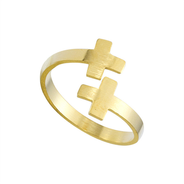 brixini.com - Vintage Double Cross Ring