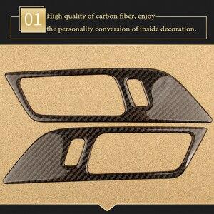 Image 2 - BOOMBLOCK 2x 자동차 대시 보드 공기 배출구 커버 탄소 섬유 스티커 액세서리 장식 자동차 현대 투손 2015 2016 2017