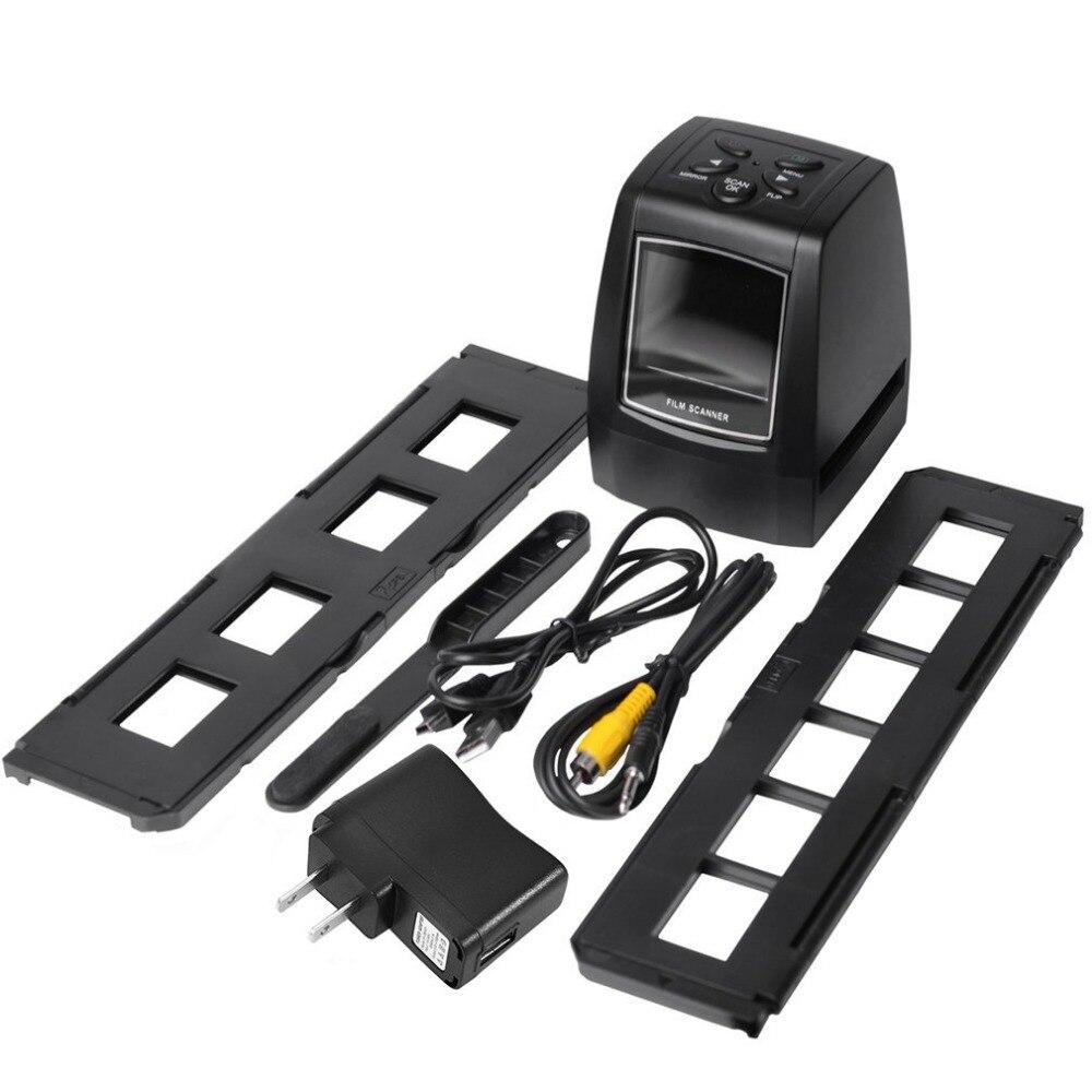 Haute Rapide Photo Printe Résolution scanner de photos 35mm/135mm Glisser scanner de Film Numérique USB Convertisseur De Film 2.36
