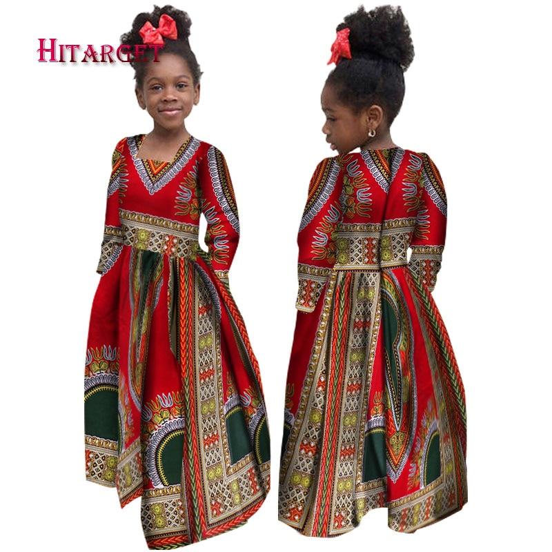 african autumn girl dress kids dashiki traditional cotton