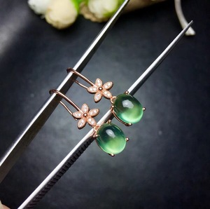 Image 2 - Natural grape stud earrings, 925 silver precision design, small flower style, 925 silver, full of luster