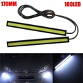 2X 17cm DRL LED Daytime Running Light COB 12V Waterproof External Lamp Car Styling Light Source Parking Auto Fog Bar Lamp