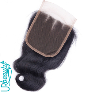 Image 5 - 50g/pc Peruvian body wave bundles with closure human hair bundles with closure UR Beauty Remy hair natural color can make a wig
