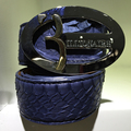Миллиардер итальянский couture мужской ремень 2016 свежий первого ранга красивый мода пряжка сплава настоящая змея кожаный мужской бесплатная доставка