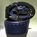 Multimillonario de alta costura italiana 2016 fresca primera fila guapo de moda los hombres de la correa hebilla de la aleación de la serpiente real de cuero masculinos envío libre