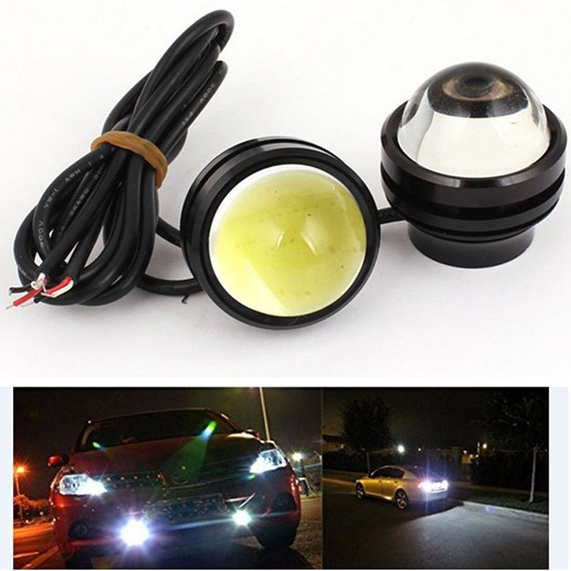 2PCS 15W Car Fog Daytime Running Light DRL Bulb Fish Eye LED Projector Auto Turn Signal Stop Parking Amber Lamp high quality h3 led 20w led projector high power white car auto drl daytime running lights headlight fog lamp bulb dc12v