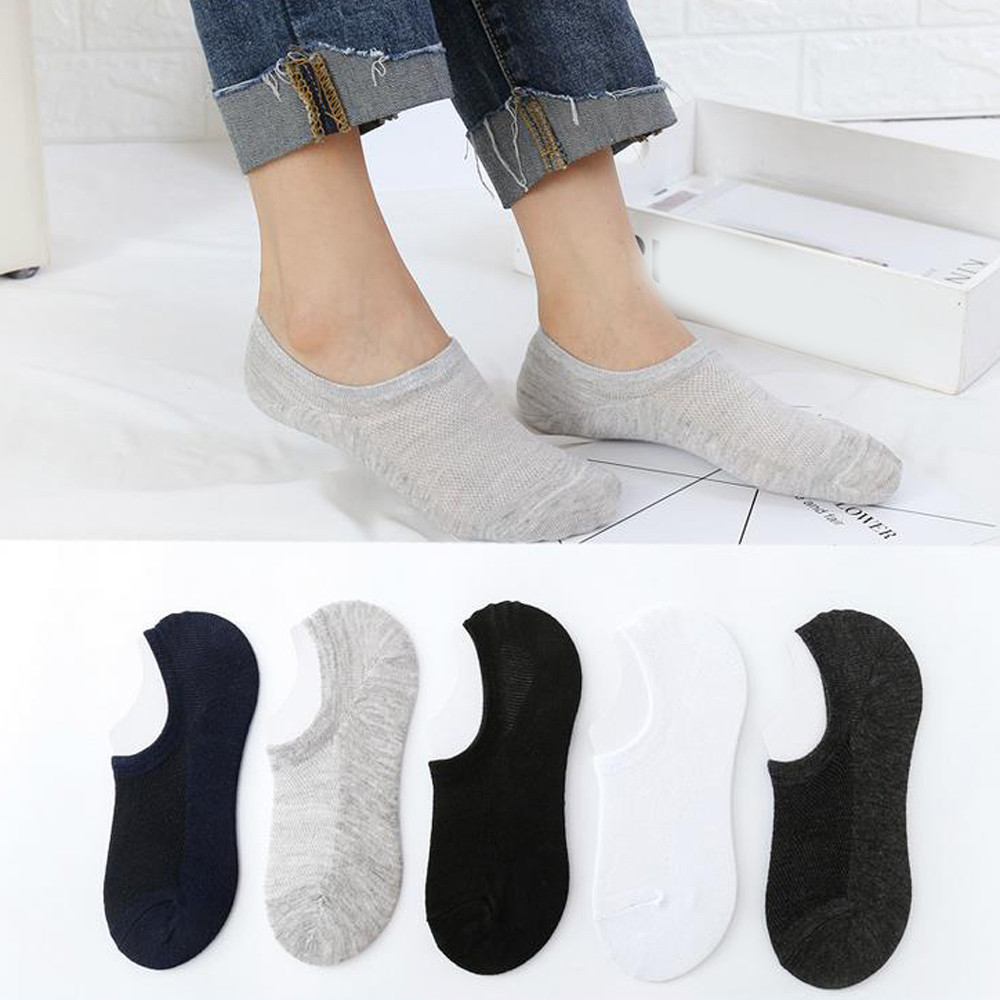 Womail Man and Women fashion   socks   Unisex Pure Color Cotton Slippers Short 1Pair Ankle   Socks   Casual Cozy Gift dropship j15