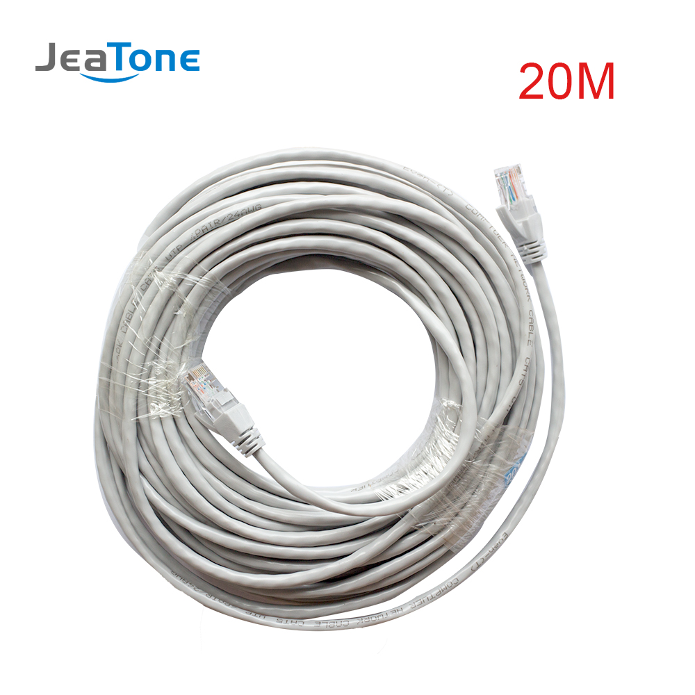 JeaTone CAT5 Cable20 meters IP Video Intercom Wire Free shipping-in Access Control Kits from Security & Protection on AliExpress - 11.11_Double 11_Singles' Day 1