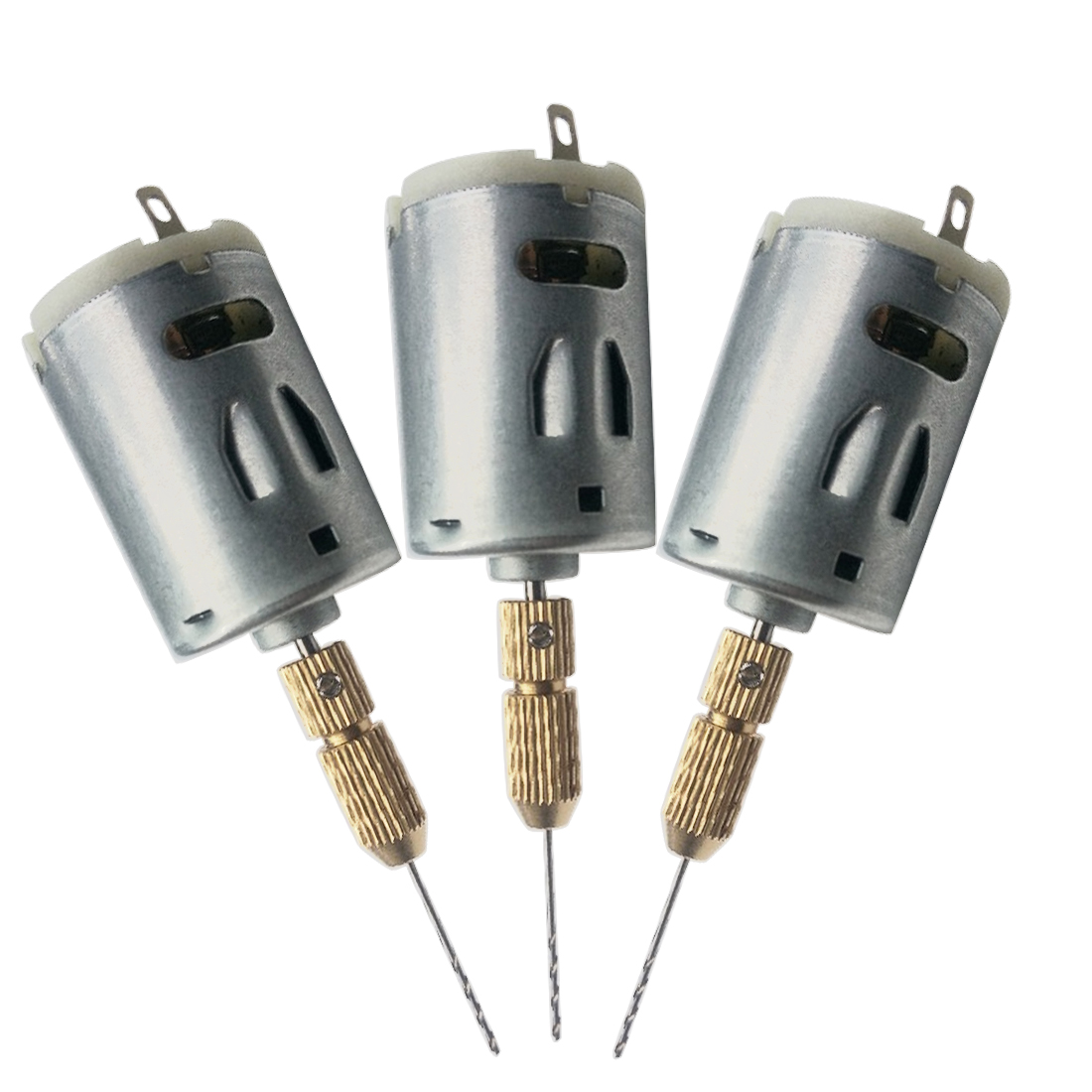 Hot Sale DC 12V Electric Hand Drill Motor PCB Drilling Compact Set 1.0-1.5 Twist Bits +1pc JT0 Chucks Tool High-quality