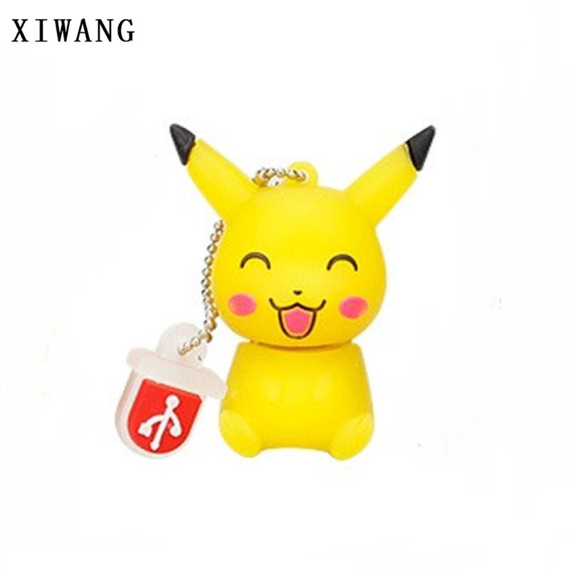 XIWANG Cute Cartoon Picacho Series USB Drive Storage Drive USB 2.0 4GB 8GB 16GB 32GB 64GB Ball Gift Flash Stick Free Shipping