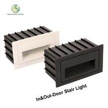 Открытый и закрытый IP65 водонепроницаемый лестницы настенный светильник, светодио дный шаг лампы 2 Вт вход AC85-265V теплый, холодный белый