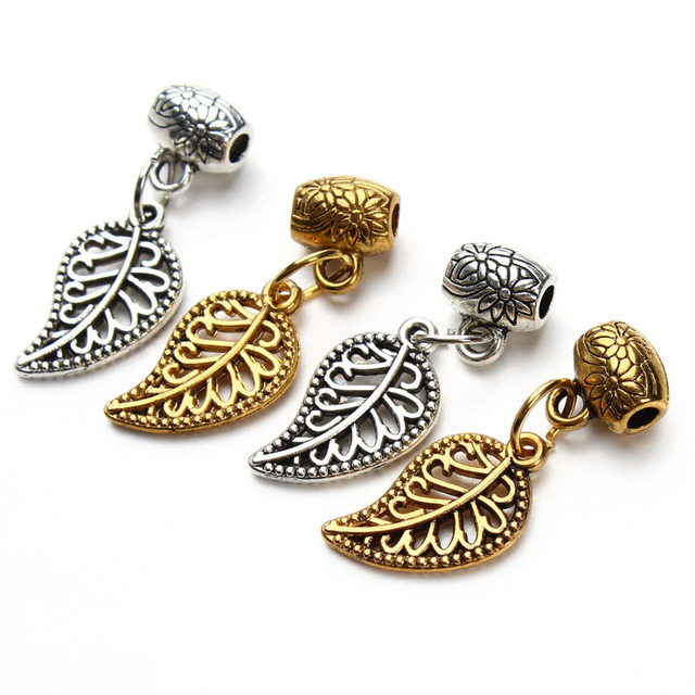 Aliexpress buy 10pieceslot wholesale vintage tibetan silver 10pieceslot wholesale vintage tibetan silver leaves charm beads bracelet pendants for women jewelry f2841 mozeypictures Gallery