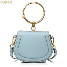 FOXER 2019 Luxury Women Bag Brand Shoulder Bag Half Moon Handbag Fashion Crossbody Bag Genuine Leather Purse Ring Ladies Bag все цены