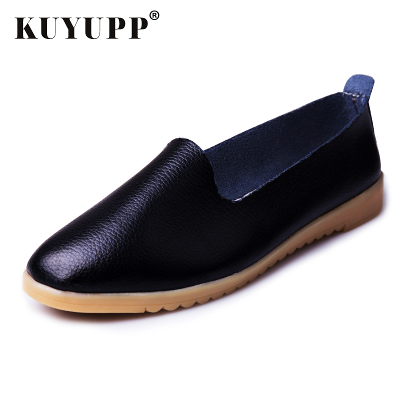 KUYUPP Cow Split Leather Women's Casual Driving Loafers Slip On Boat Shoes Flats Moccasins Loafers Indoor Shoes YDT21 2017 moccasins men loafers luxury brand flats quality slip on casual shoes bling leather boat shoes souliers zapatillas xk122801