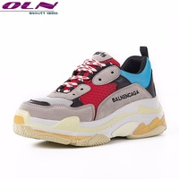OLNNEW Casual Shoes Men 2018 Fly Weaving Ins Torre Sneakers Breathable Lovers Runing Sports Dad Shoe Lace Up Mens Boot Hot Sale
