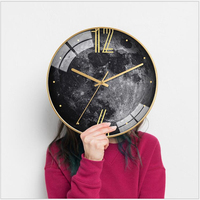 Geekcook Wall Clocks Watch Clocks For Living Room Nordic Personality Creative Fashion Watches Light Luxury Wall Clock Modern
