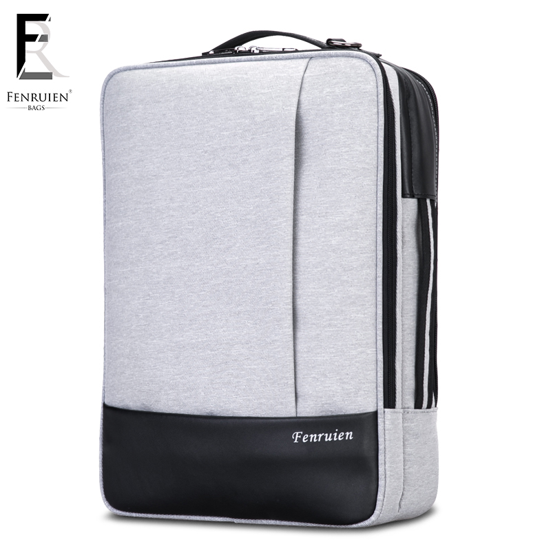 f195bc9c1f82 FENRUIEN 15.6 inch Laptop Backpack Men Waterproof Fashion Business Daypack  Travel Anti theft Backpack Rucksack Casual Bag