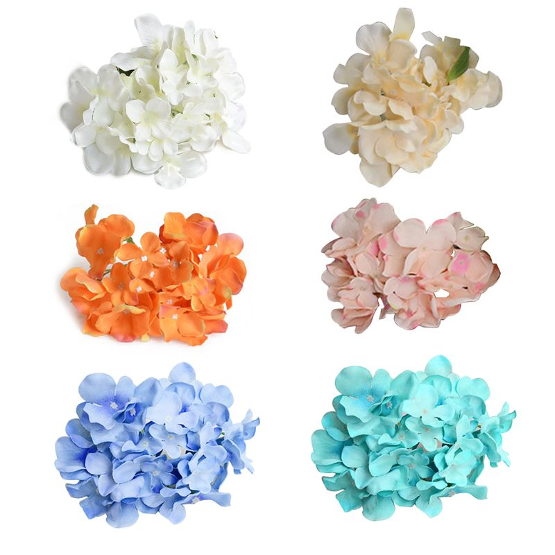 1Pc 15cm Real-Touch Artificial Flower Hydrangea Heads Without Stems For DIY Bouquets Home Centerpieces Wedding Party Decoration