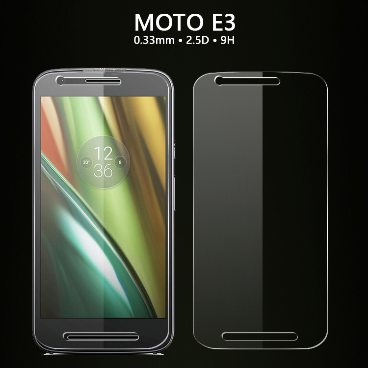 For Motorola Moto E3 E 3rd Gen 2.5D 9H Tempered Glass Screen Protector BAG Glass Film For Moto E3 Power XT1700 XT1706
