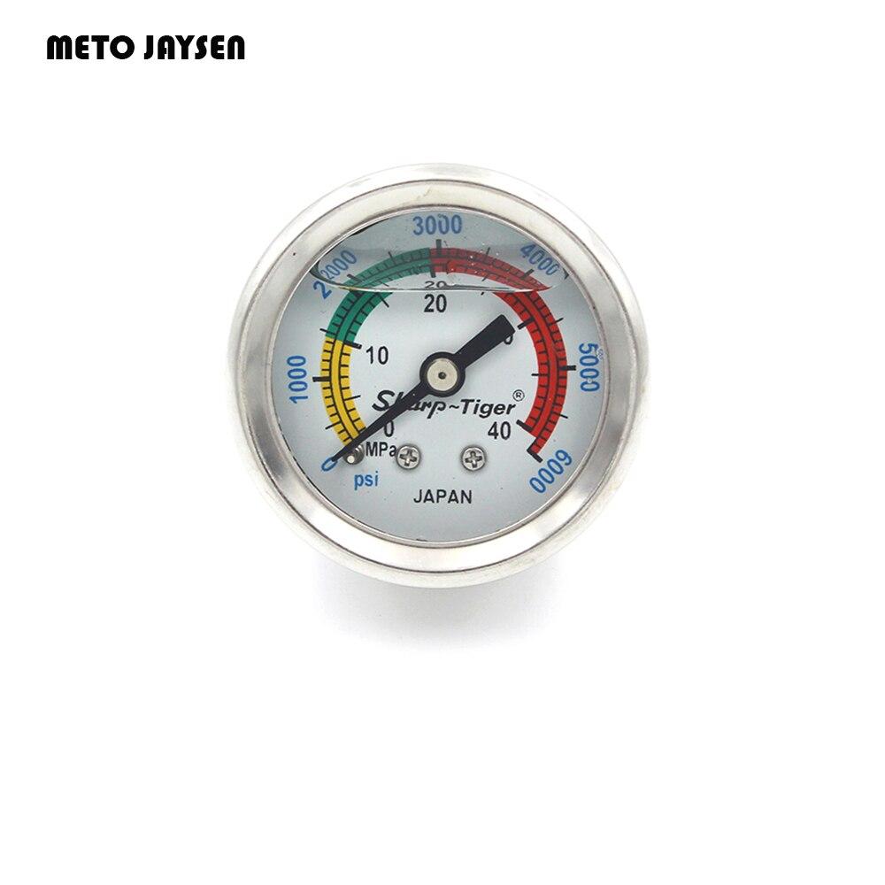 PCP Pump Paintball High Pressure Liquid Oil Filled Diving Pressure 1.5 Inches Gauges 40MM Diameter 40MPA 6000PSI Air Refilling