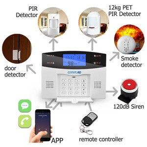 Image 2 - Di Sicurezza Antifurto casa PSTN e GSM Sistema di Allarme 850/900/1800/1900 Wireless Segnalazione Inglese/Russo /spagnolo/Francese/Italiano