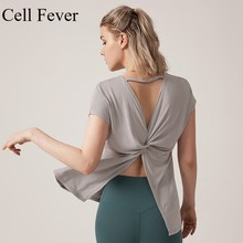 Female Sport Tops Loose Fit Solid Fitness Sport Shirts Women Breathable Quick Dry T-shirt Crop Top Gym Training Yoga Running Tee цена и фото